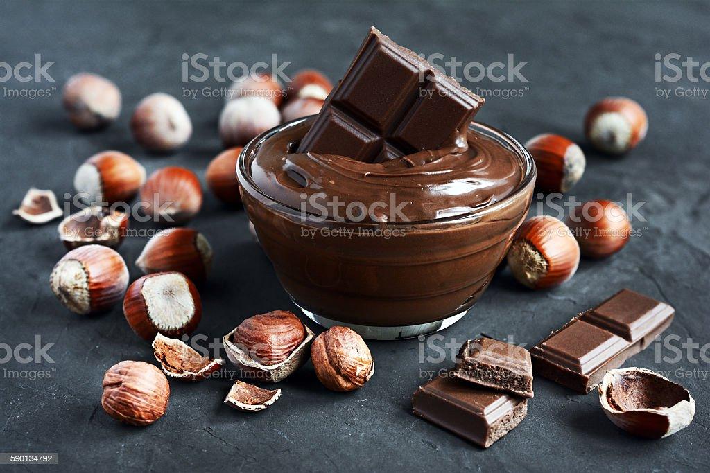Homemade hazelnut spread stock photo