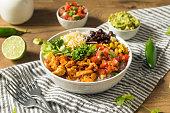 istock Homemade Healthy Chicken Burrito Bowl 1300212146