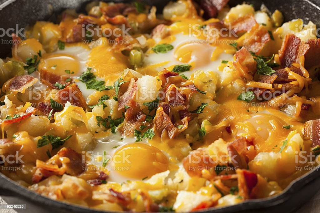 Homemade Hearty Breakfast Skillet royalty-free stock photo