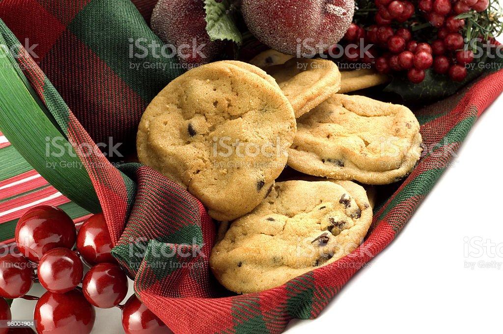 Férias Cookies com gotas de Chocolate caseiro foto royalty-free