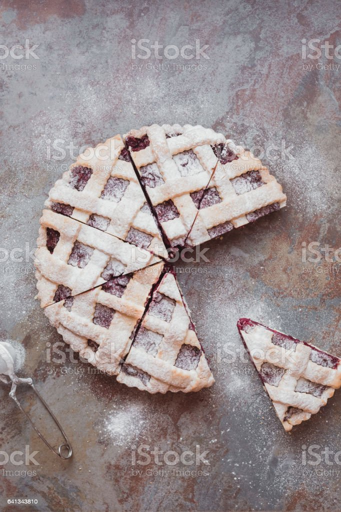 Homemade Holiday Pie stock photo