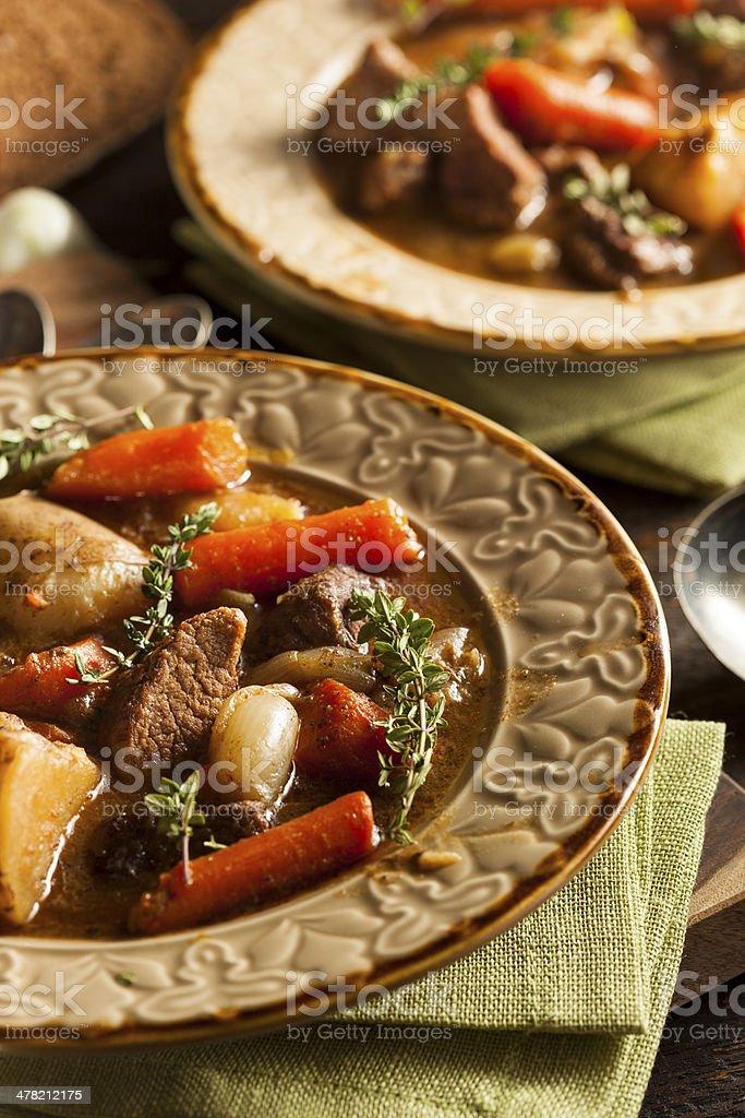 Homemade Irish Beef Stew stock photo