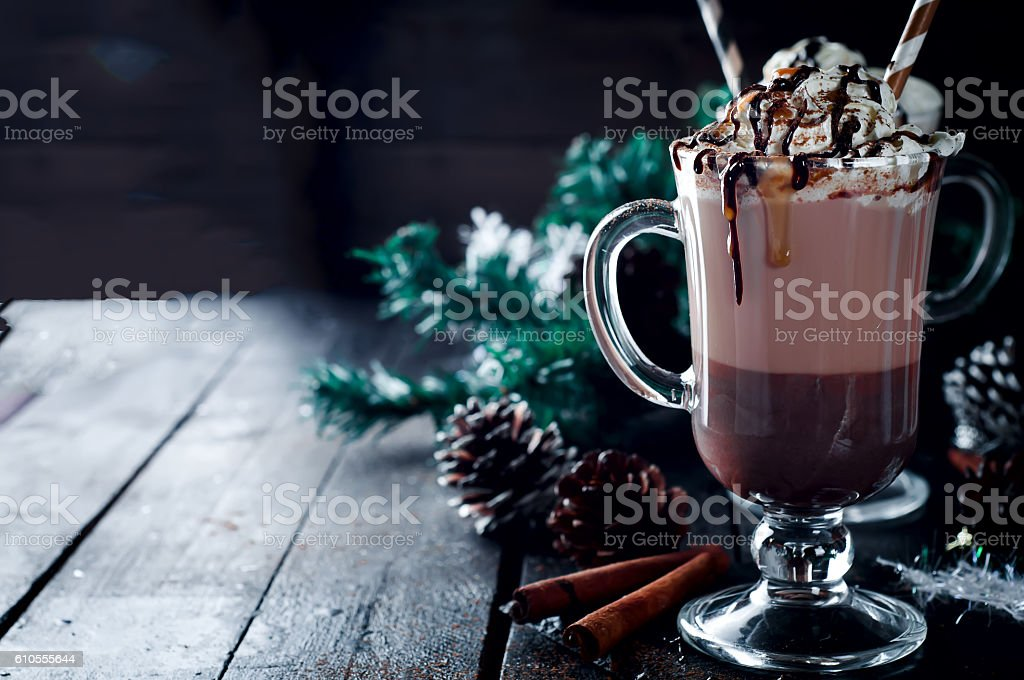 Homemade Irish Coffee stock photo