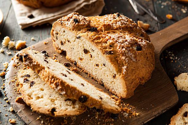 Homemade Irish Soda Bread stock photo