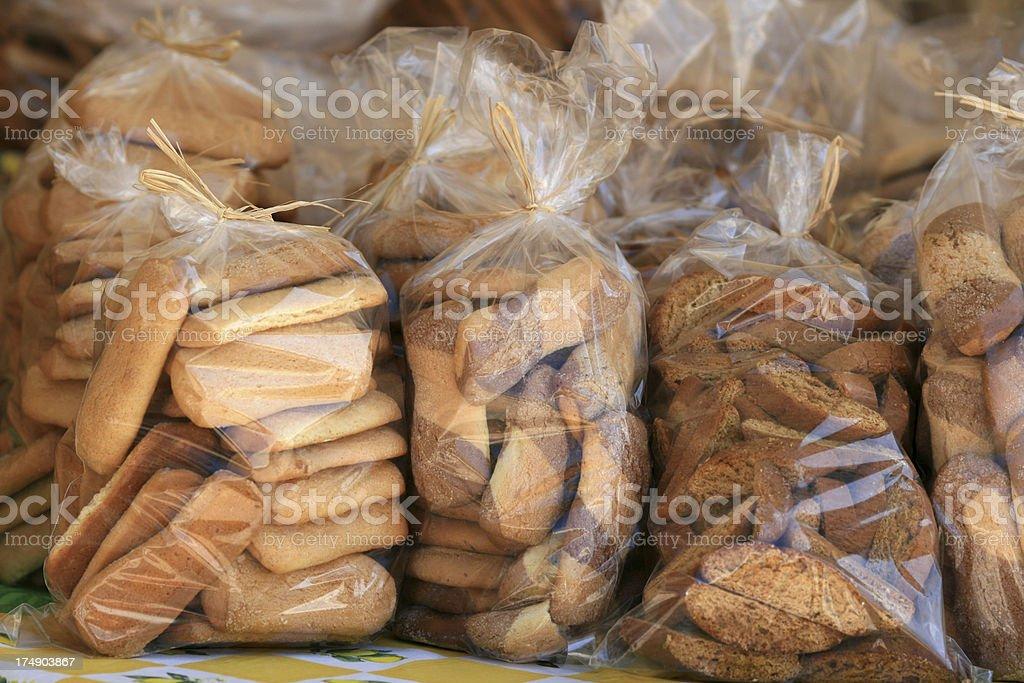 Homemade Italian cookies stock photo