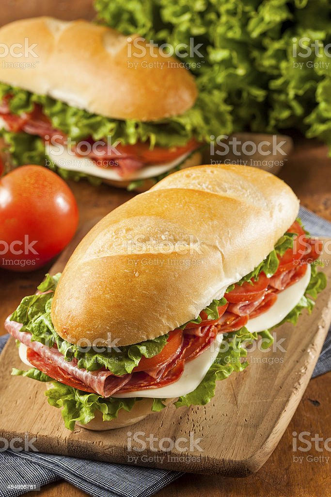 Homemade Italian Sub Sandwich stock photo
