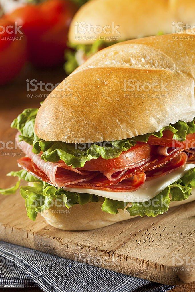 Homemade Italian Sub Sandwich royalty-free stock photo