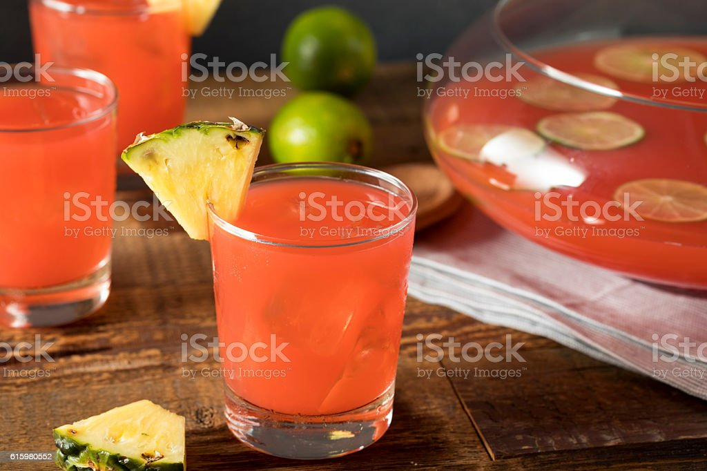 Homemade Jamaican Rum Punch stock photo