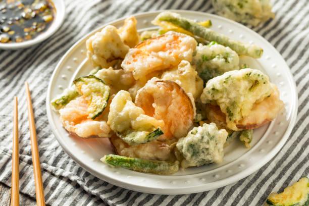 homemade japanese vegetable tempura - tempura imagens e fotografias de stock