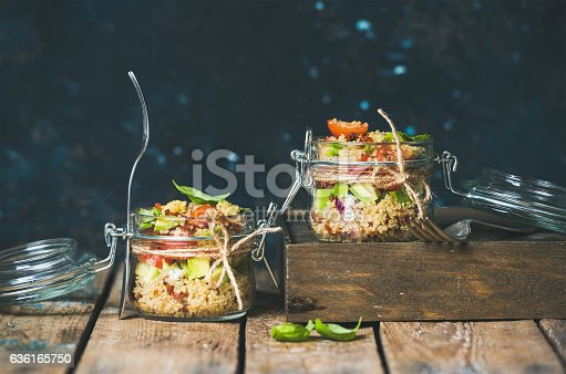 istock Homemade jar quinoa salad with cherry and sun-dried tomatoes 636165750