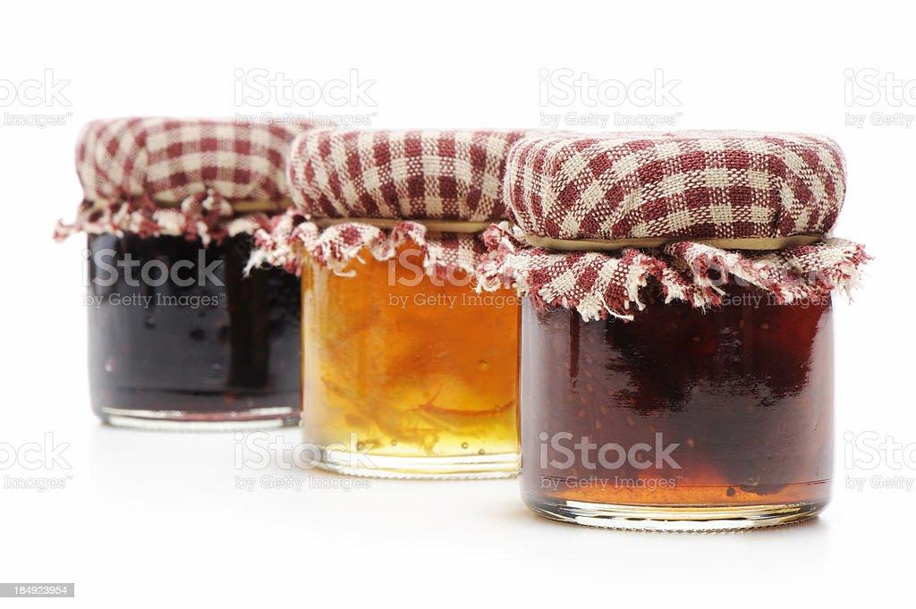 Homemade jellies stock photo