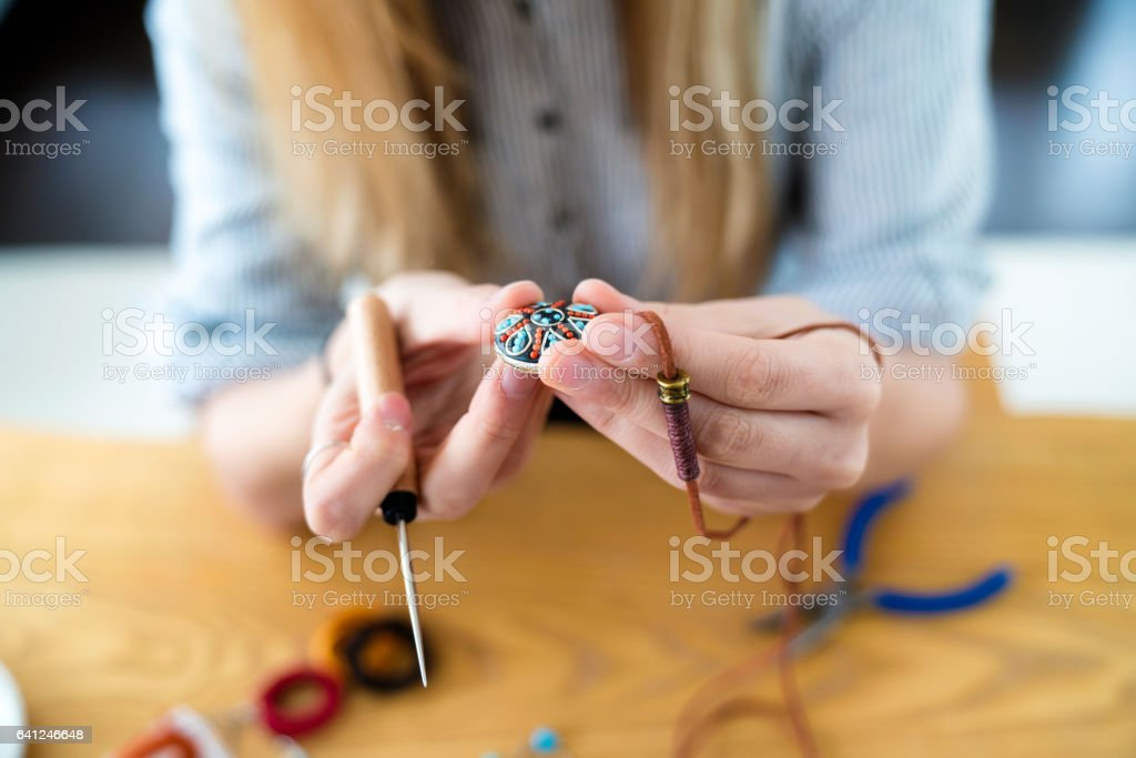 Homemade Jewellery Design stock photo