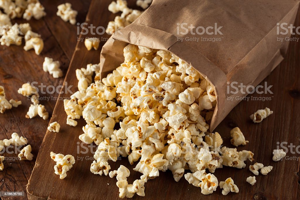 Homemade Kettle Corn Popcorn stock photo