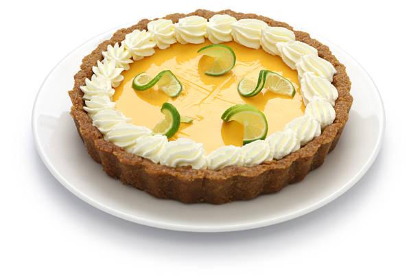hausgemachte key lime pie - käsekuchen kekse stock-fotos und bilder