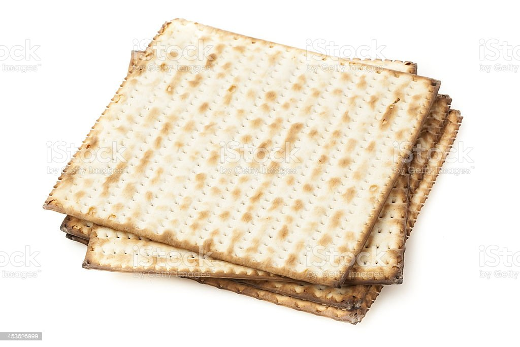 Homemade Kosher Matzo Crackers royalty-free stock photo