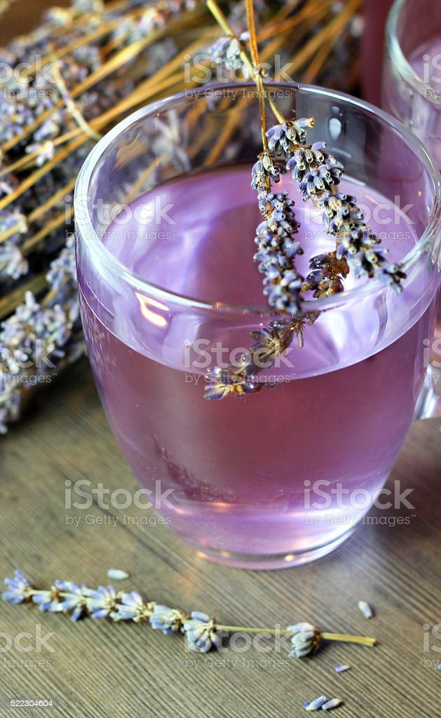 Homemade lavender drink stock photo