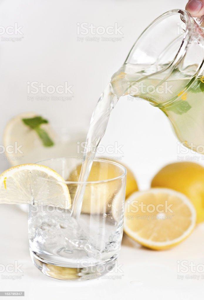 Homemade lemonade with mint royalty-free stock photo
