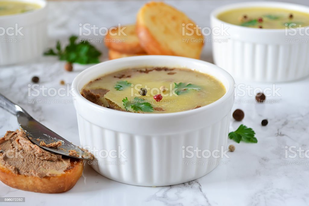 homemade liver pate with spices and toast royalty-free stock photo