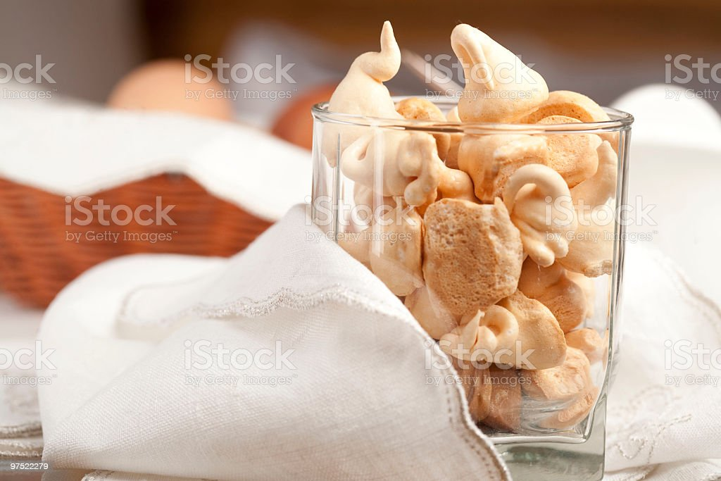 Homemade merengue in a glass royalty-free stock photo