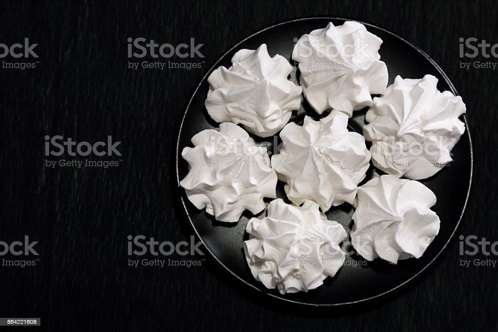 Homemade meringue cookies royalty-free stock photo
