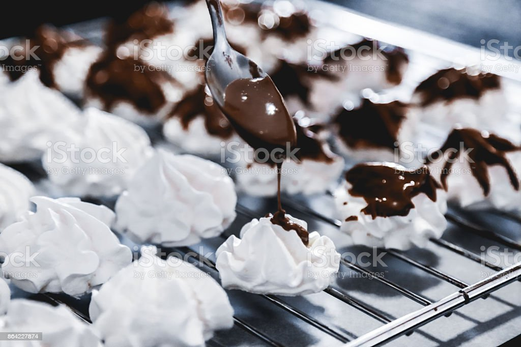 Homemade meringue cookies royalty-free stock photo