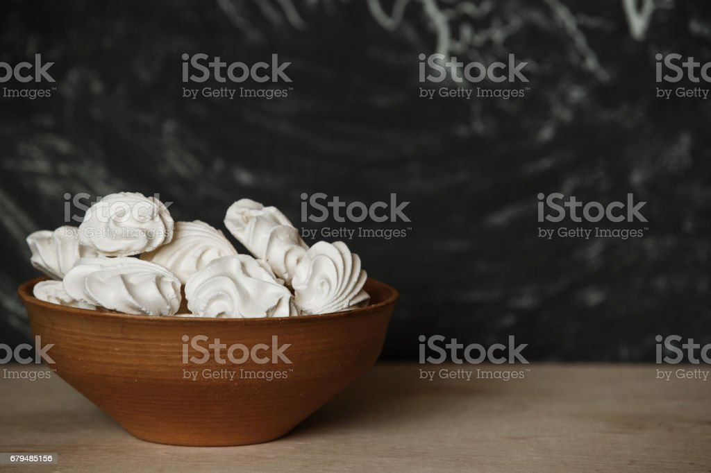 Homemade Meringue.  Meringue made with love royalty-free stock photo