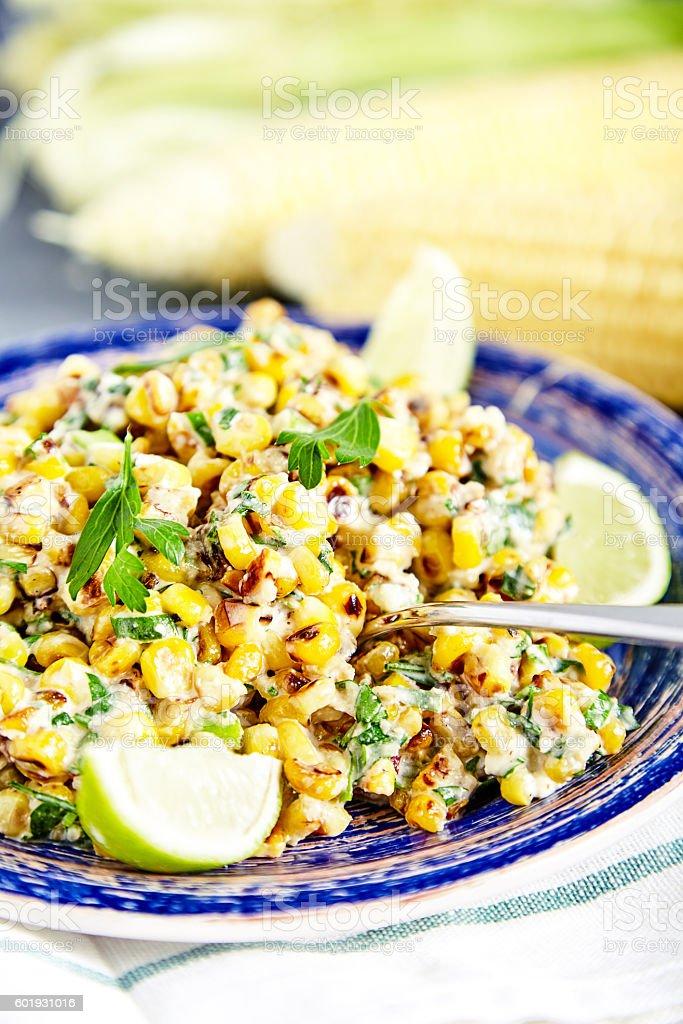 Homemade Mexican Corn Salad stock photo