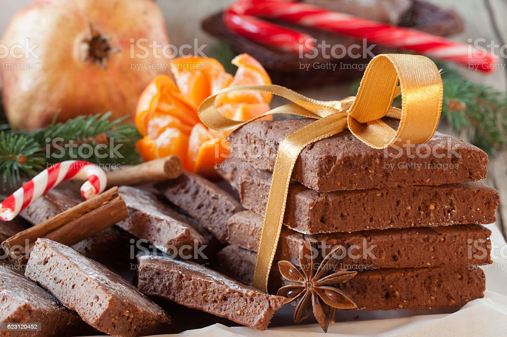 Homemade Mostaccioli For Christmas stock photo