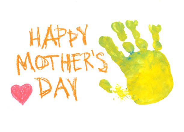 homemade mother's day card - mothers day stock pictures, royalty-free photos & images