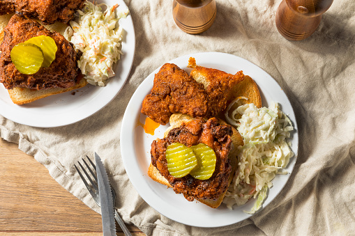 Homemade Nashville Hot Chicken Stock Photo - Download Image Now