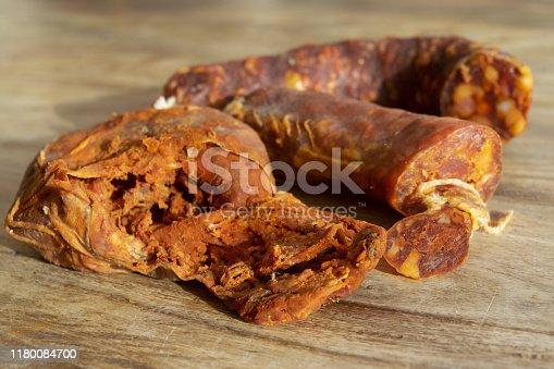 calabrian product: handmade nduja and hot soppressata