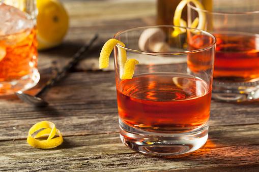 Homemade New Orleans Sazerac Cocktail