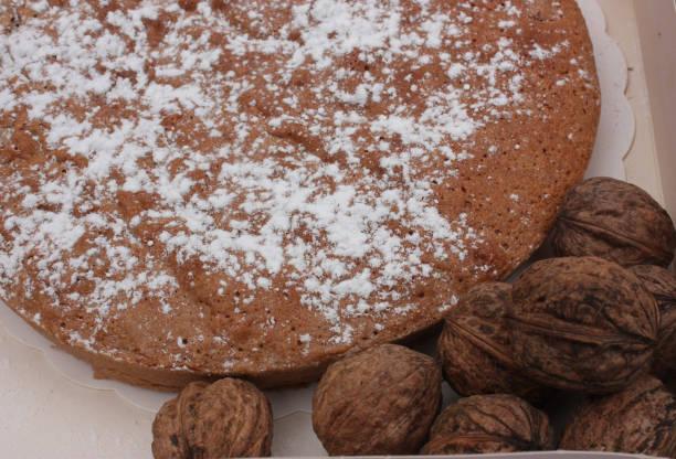 Cтоковое фото Homemade nut cake