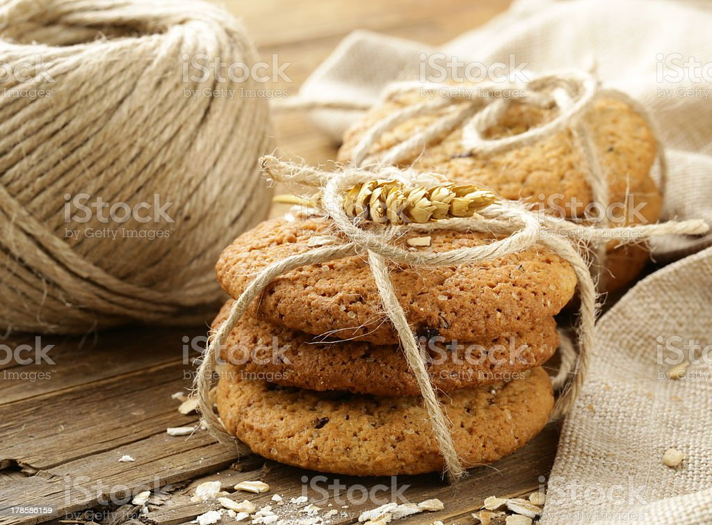 homemade oatmeal cookies royalty-free stock photo