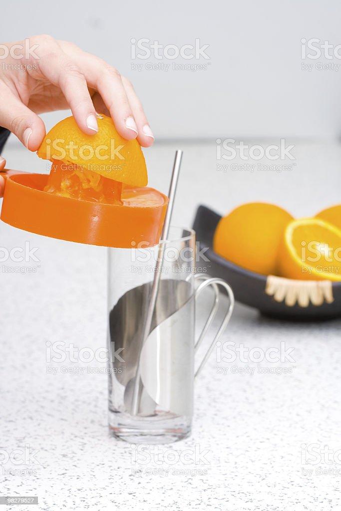Homemade orange juice royalty-free stock photo