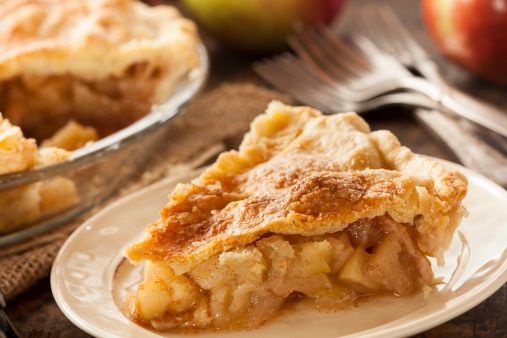 Homemade Organic Apple Pie Dessert Stock Photo - Download Image Now
