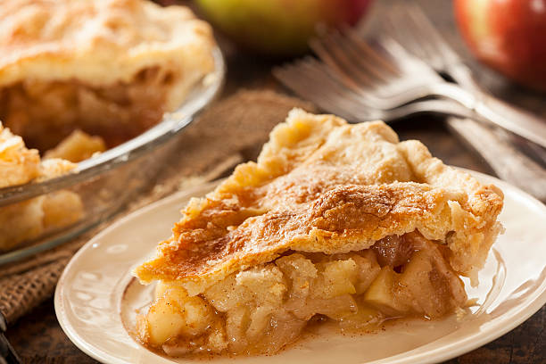 Homemade Organic Apple Pie Dessert stock photo