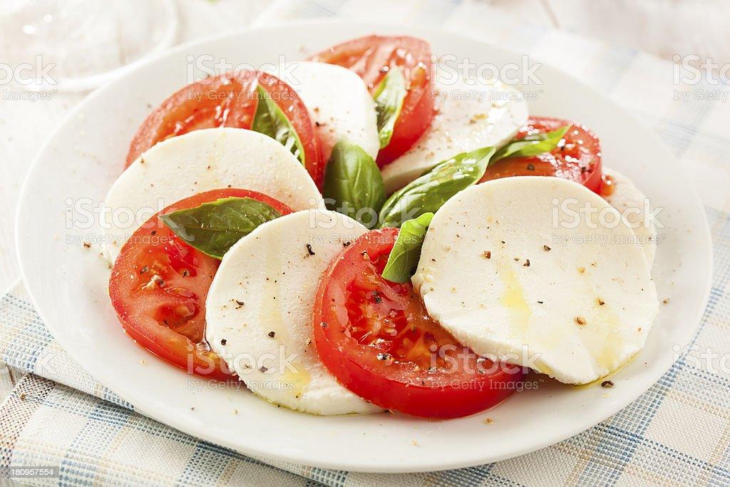 Homemade Organic Caprese Salad royalty-free stock photo