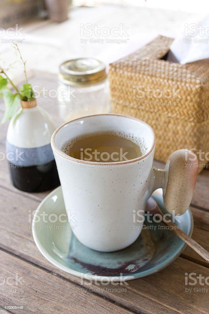Hausgemachte Bio-Ingwer-Tee – Foto
