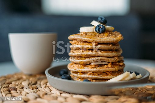 istock Homemade Pancakes 1179137591