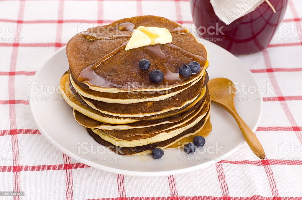 homemade pancakes royalty-free stock photo