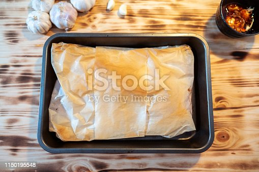 homemade parchment baked fish fillet