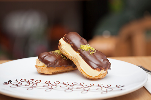Homemade pastry eclair
