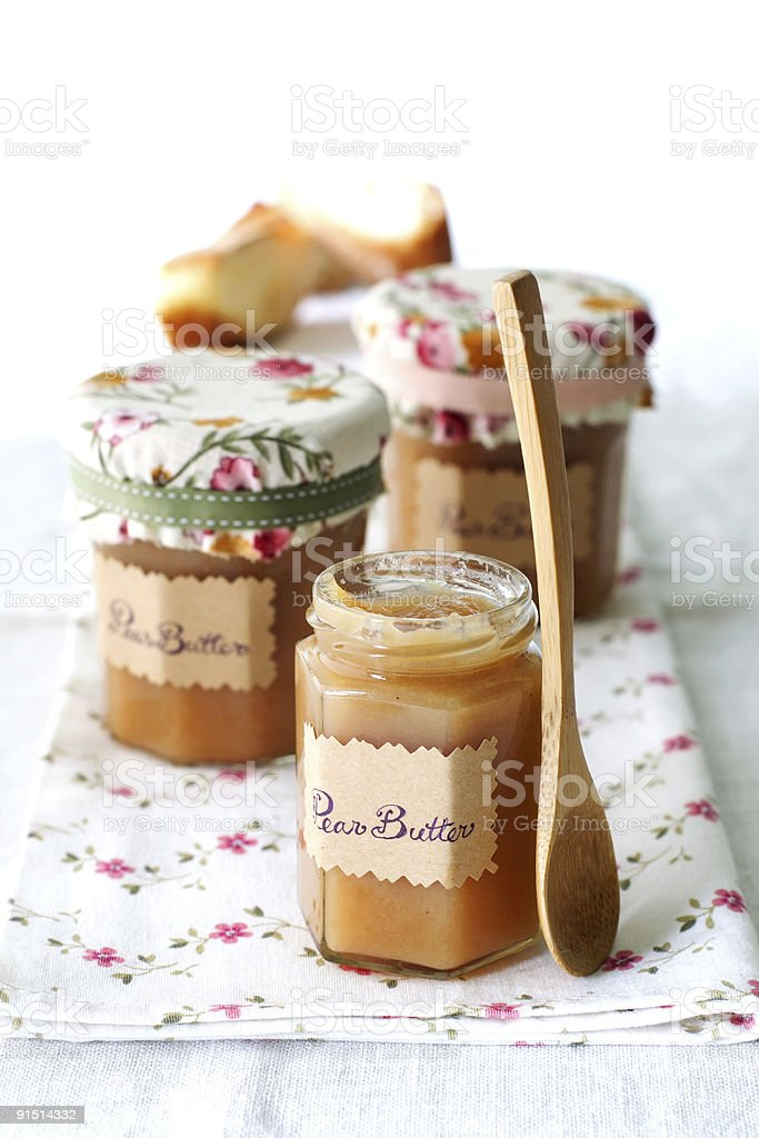 homemade pear perserve royalty-free stock photo