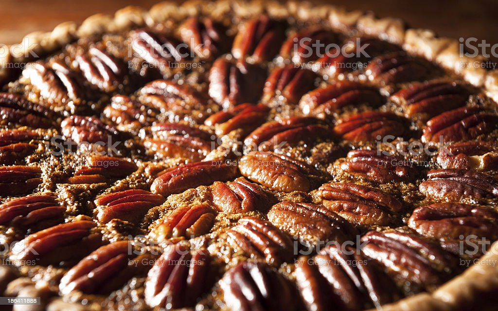 Homemade Pecan Pie stock photo