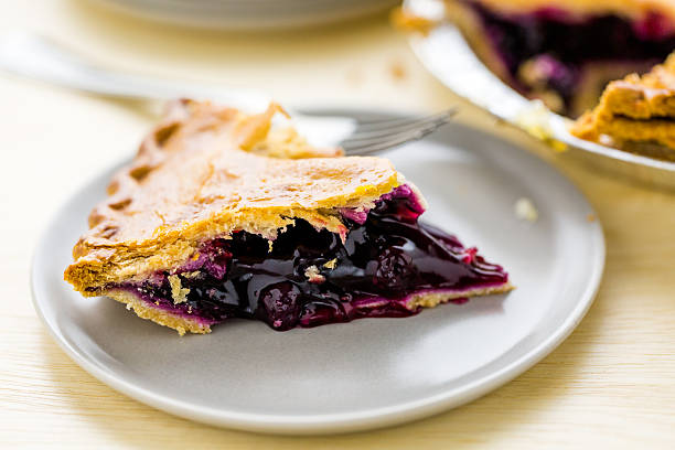 homemade pie - blueberry pie stock pictures, royalty-free photos & images