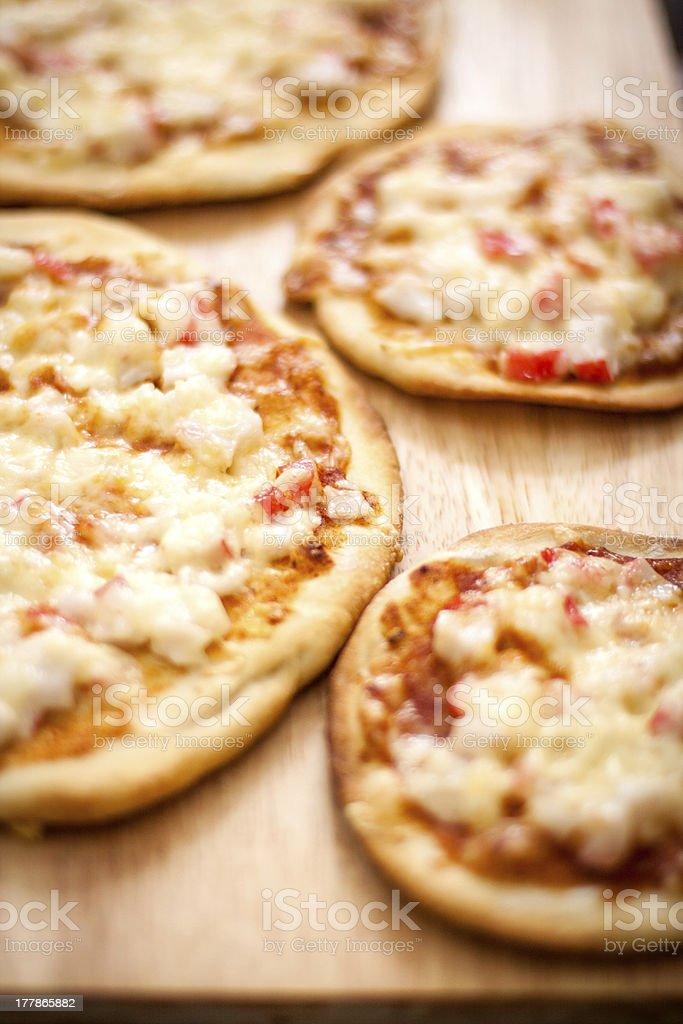 Homemade pizza closeup royalty-free stock photo