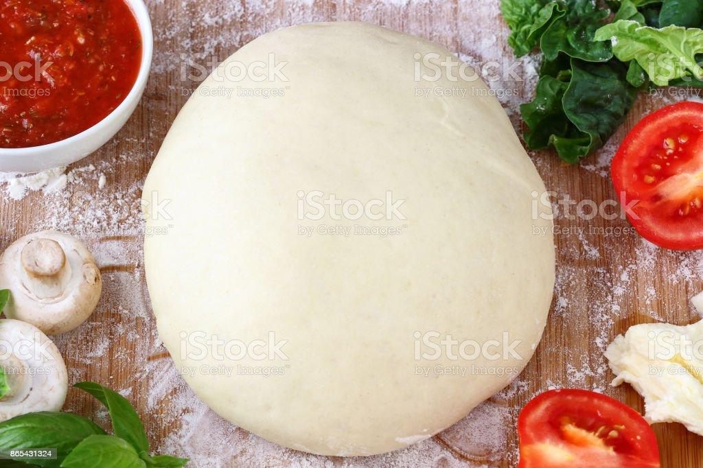 Homemade Pizza Dough stock photo