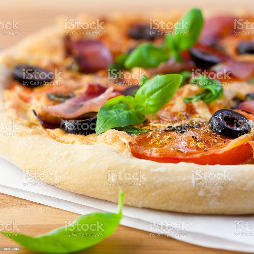 Homemade Pizza royalty-free stock photo