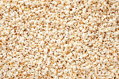 Top view of lots of fresh popcorn